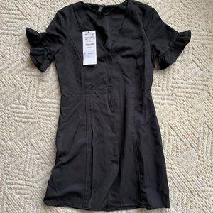 Zara button down v neck dress